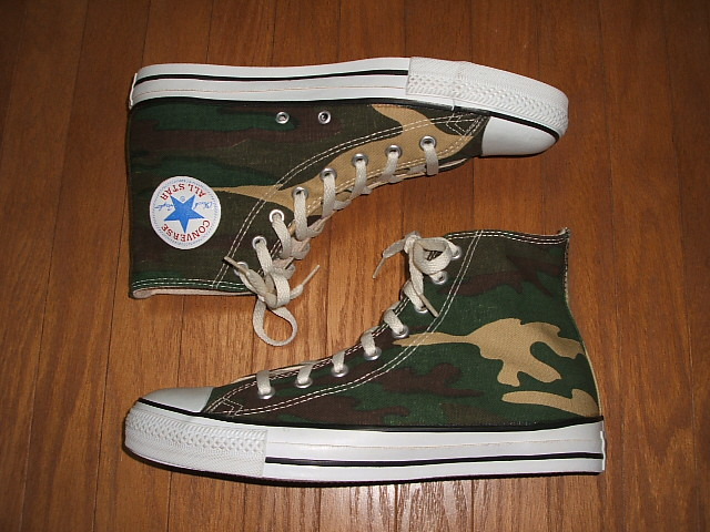 CONVERSE (Converse) ALL STAR (all stars) Hi (yes) Camouflage (camouflage camouflage pattern) MADE IN USA (product made in United States) 1990s dead