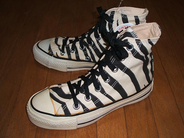 CONVERSE(コンバース) ALL STAR(オールスター) Hi(ハイ) Kids(キッズサイズ) Zebra(ゼブラ) MADE IN USA(アメリカ製) 1980年代 実物デッドストック