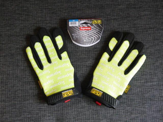 SUPREME(シュプリーム)×Mechanix Wear(メカニックスウェア) Original Work Gloves Lime Green yellow(オリジナルワークグローブ 蛍光イエロー緑ライム グリーン) 2017年春夏モデル(2017SS) Mサイズ【中古】