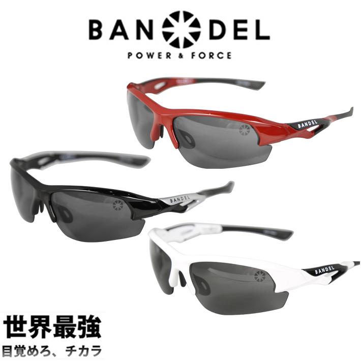【着後レビューでBANDELグッズ!】BANDEL バンデル SUNGLASSES サングラス BAN-SSG001スポーツ 運動 アイウェア 眼鏡 フィット パワー加工 バランスアップ フリーサイズ 軽量 ギフト プレゼント ゴルフ 引っ越し 新生活 母の日