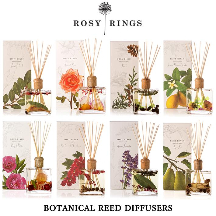 ROSY RINGS ロージーリングス ディフューザー BOTANICAL REED DIFFUSERS ボタニカルリード ディフューザー インテリア アロマ 匂い
