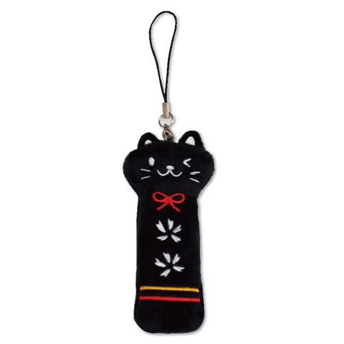 ネコ雑貨 定価 印鑑ケース かわいい キャラクター おしゃれ リップケース ネコ 猫 キャット 在庫限り 激安 ギフト 小物入れ 黒 プレゼント メーカー終了 なごみ猫 受賞店