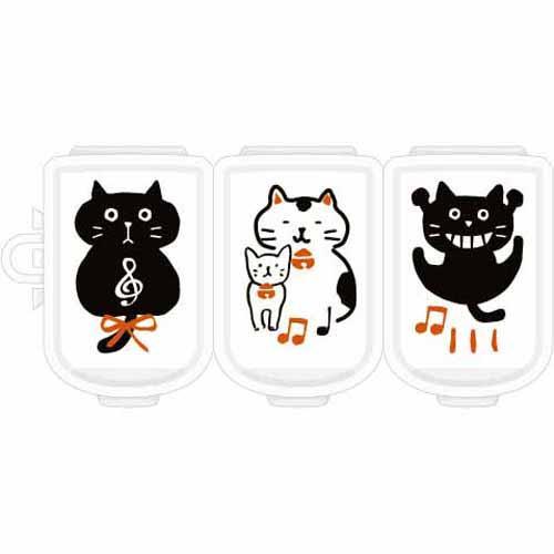 ピルケース 贈り物 猫 おしゃれ 小物入れ ピアスケース ねこ お値打ち価格で 肉球 文具 ステーショナリー かわいい 携帯 3連 ギフト あか プレゼント 052-686 NE117