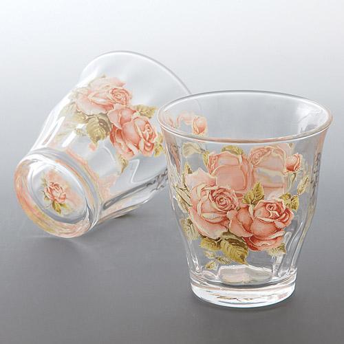 タンブラー おしゃれ 高級品 コップ ガラス カップ グラス バラ 雑貨 ばら 薔薇 ジュース 857-521 ウォーター アフタヌーン SEAL限定商品 麦茶 かわいい ゴールドローズ ローズ ギフト