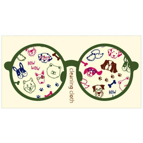 ネコ雑貨 メガネケース メガネ拭き メガネクロス おしゃれ 眼鏡ケース グラスケース メガネ ケース 売却 dog 137-364 CC-052 犬雑貨 最安値に挑戦 犬 プレゼント クリーニングクロス 犬家族 ギフト かわいい