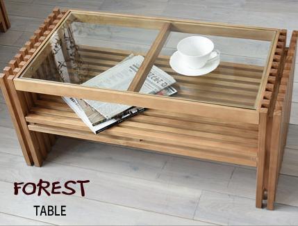センターテーブル ローテーブル 木製テーブル リビングテーブル コーヒーテーブル シンプル モダン 天然木 モザイク ウッド 木 北欧 『FOREST センターテーブル』 【送料無料】※代引き手配できません【北海道1000円・沖縄・離島は別途運賃かかります】