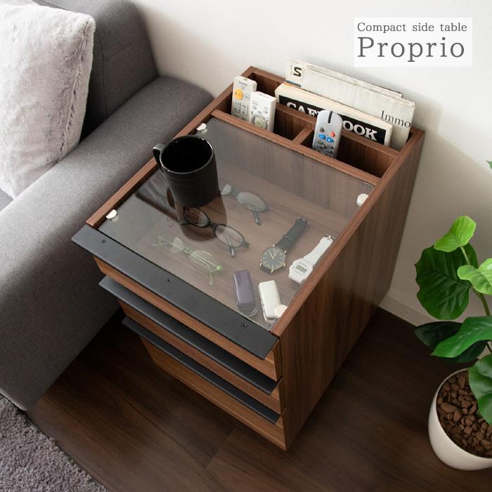 ソファサイド ガラストップ ベッドサイド コレクション TABLE 北欧風 コーヒーテーブル ST-203 『サイドテーブル 【Proprio】』【北海道1500円・沖縄・離島は別途運賃かかります】