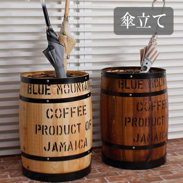 国産ヒノキ材 樽型傘立て たる タル 木樽 ウッド 木製 カントリー バレル 店舗什器 コーヒー樽 傘たて 傘入れ 玄関 おすすめ 通販 【送料無料】※代引き手配できません【北海道1500円・東北500円・沖縄・離島は別途運賃かかります】