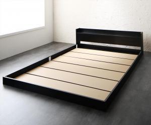 【送料無料】 棚・コンセント付きフロアベッド ベッドフレームのみ セミダブル