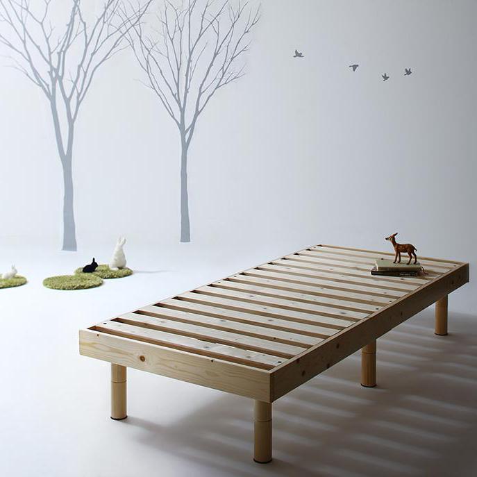 【P5倍★本日12時~大サービス!】 コンパクト天然木すのこベッド ベッドフレームのみ セミシングル ショート丈