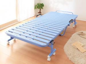 【P5倍★本日12時~大サービス!】 折りたたみ式抗菌樹脂すのこベッド シングル