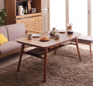 【最大P14倍★5/5 20:00~23:59】 こたつテーブル 高さ調整 棚付きデザインこたつテーブル 4尺長方形(80×120cm)