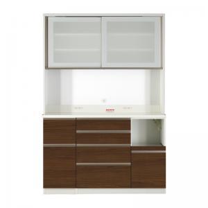 柔らかな質感の キッチン収納 開梱サービスなし 大型レンジ対応 ハイカウンター90cmキッチンボード キッチンボード 幅140 高さ205, かなもん 73bbb39b