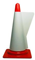 カラーコーン用立体表示カバー 印刷なし コーンカバー ホワイト ミヅシマ工業 メーカー直送 カラーコーン 卓越 カバー 保安用品 コーン セーフティーコーン セーフティコーン パイロン 三角コーン ロードコーン 駐車場 バー 工事現場