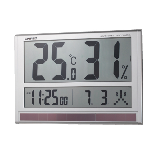 HO-126 大型デジタル温湿度計 | 熱中症対策グッズ 暑さ対策 グッズ 熱中症 熱中症対策 熱中症予防 夏用 夏 熱中対策 建設業 温度計 湿度計 温湿度計 デジタル 現場 スポーツ
