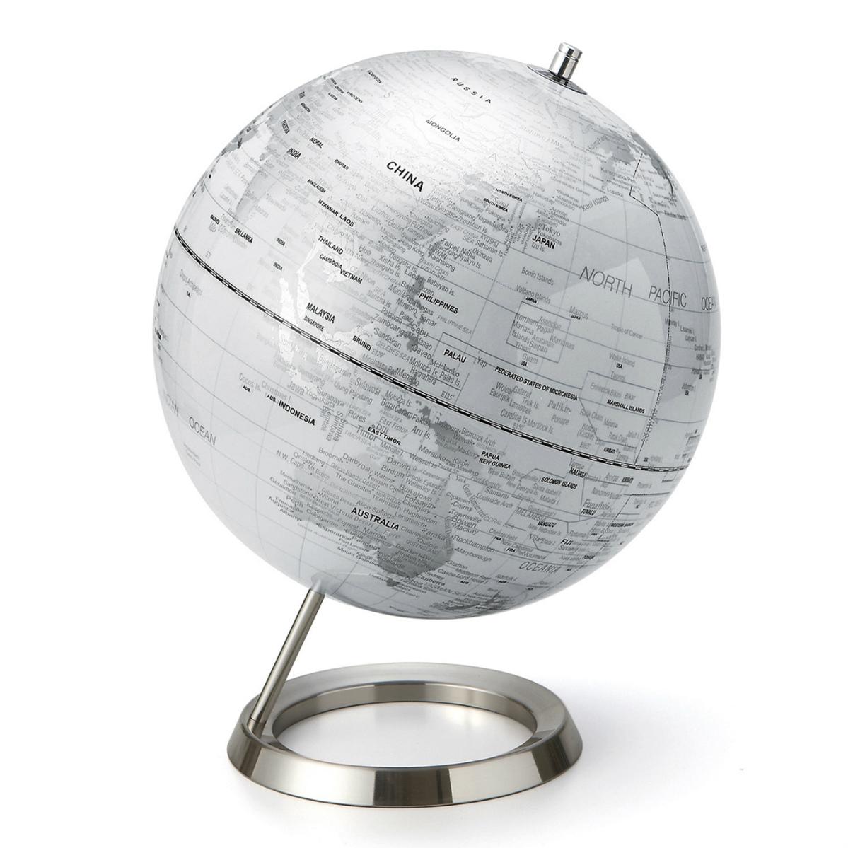 【1/16迄エントリーでP10倍】【代引き不可】【納期指定不可】【Interio Globe Collection】地球儀S 12インチ ホワイト