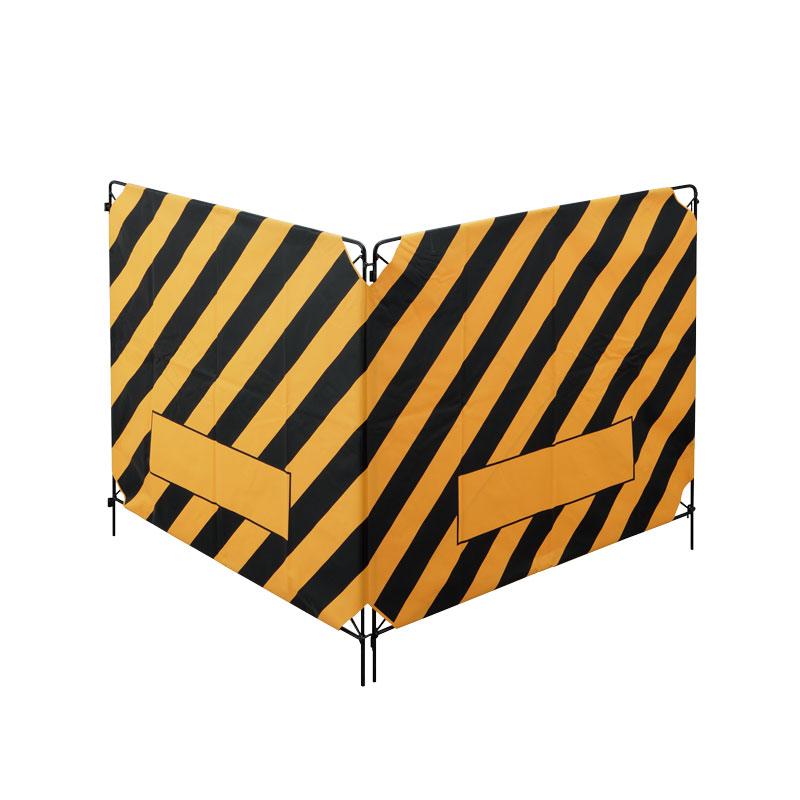【8/17以降出荷】マンホール屏風 2面タイプ(383-91)   マンホールフェンス マンホールガード マンホール柵 作業柵 工事 作業 現場 工事現場 作業現場 安全用品 保安用品 安全対策 マンホール 屏風 柵 フェンス