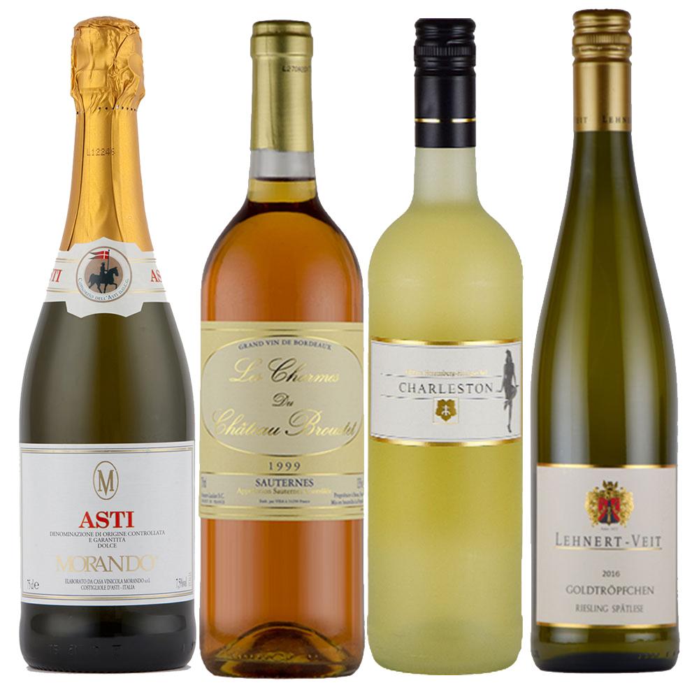 母の日 に おすすめ 白ワインセット 甘口 白ワイン セット 4本 送料無料 フランス ドイツ イタリア ソーテルヌ アスティ 入り