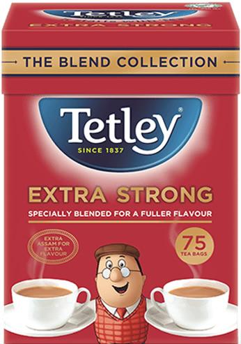 テトリ-・エクストラストロング・75袋入り・Tetley Tea Extra Strong 75TB