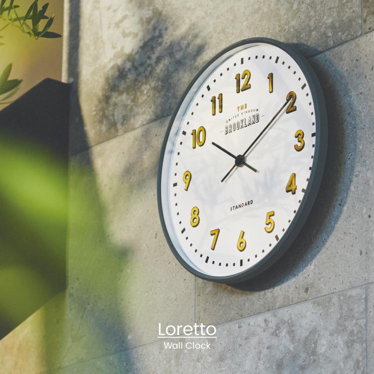 ウィンドウサインを思わせるクール シンプルなデザインの時計 スリムでスマートな印象のおしゃれなインテリアアイテム インターフォルム公式 送料無料 Loretto ロレト 掛け時計 電波時計 新色 壁掛け時計 壁時計 おしゃれ お洒落 カフェ 書斎 インダストリアル 箔押し アンティーク レトロ ギフト 寝室 リビング ダイニング かわいい インテリア ウィンドウサイン ●手数料無料!!