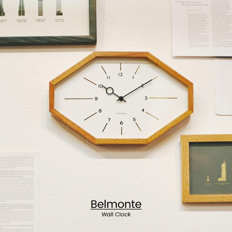 マーケット レトロな八角形のフォルムが特徴的なウォールクロック シンプルな中にゴールドのインデックスが映える大人デザイン インターフォルム公式 送料無料 Belmonte ベルモンテ 掛け時計 電波時計 壁掛け時計 壁時計 北欧 おしゃれ お洒落 リビング 希望者のみラッピング無料 カフェ ダイニング 一人暮らし 八角形 シンプル 木製 ギフト レトロ 書斎 デザイン ナチュラル 寝室