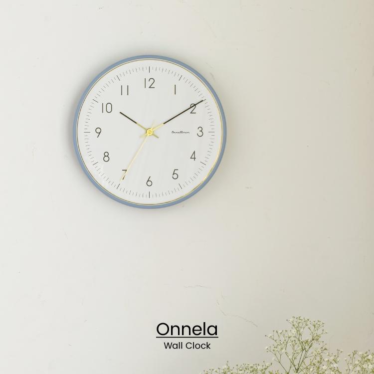 NEW シンプルな文字盤にゴールドをアクセントに効かせた掛け時計 スタイリッシュでノーブルな雰囲気を演出してくれます インターフォルム公式 送料無料 Onnela オンネラ 壁掛け時計 掛け時計 時計 おしゃれ かわいい 正規店 北欧 ゴールド 壁時計 一人暮らし 見やすい ギフト ウォールクロック 寝室 シンプル 新築 リビング ダイニング 即納最大半額 グレー お祝い インテリア