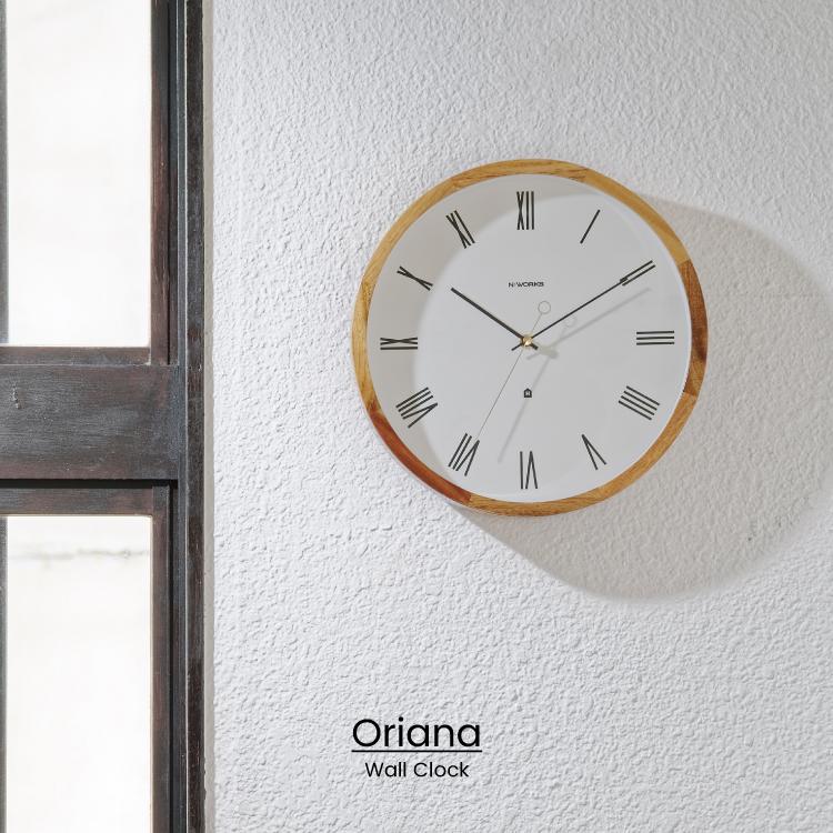 NEW ローマ数字の美的なデザインを生かした掛け時計 ミニマルなデザインとウッドフレームがマッチした大人レトロなイメージ インターフォルム公式 送料無料 Oriana オリアナ 壁掛け時計 掛け時計 時計 おしゃれ かわいい 北欧 インテリア ナチュラル ローマ数字 無音 寝室 リビング 木 ダイニング 至高 ウォールクロック 壁時計 上品 ギフト 音がしない 一人暮らし