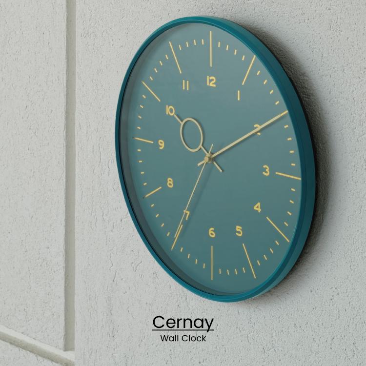 NEW ニュアンスカラーでスタイリッシュにまとめたシンプルな掛け時計 ゴールドカラーがキラリと輝くトレンドを押さえたデザインです インターフォルム公式 送料無料 Cernay セルネ 壁掛け時計 大幅にプライスダウン 掛け時計 時計 おしゃれ かわいい シンプル 無音 インテリア 新築 ギフト ダイニング ゴールド 寝室 リビング 壁時計 ニュアンスカラー マリンブルー 一人暮らし グレージュ お祝い ウォールクロック 業界No.1