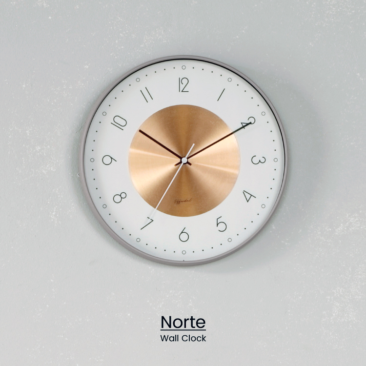 NEW コッパーのプレートがさりげなく輝く壁掛け時計 スリムなフレームとフェミニンな文字盤がマッチした上品な仕上がり インターフォルム公式 品質保証 送料無料 Norte ノルテ 壁掛け時計 掛け時計 時計 おしゃれ かわいい シンプル 無音 壁時計 グレー 一部地域を除く 新築 リビング 寝室 お祝い 一人暮らし ギフト コッパー インテリア ウォールクロック ニュアンスカラー ダイニング
