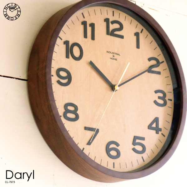 Daryl [ ダリル ] 掛け時計 ■ 電波時計 | 壁掛け時計 | 壁時計 【 インターフォルム 】