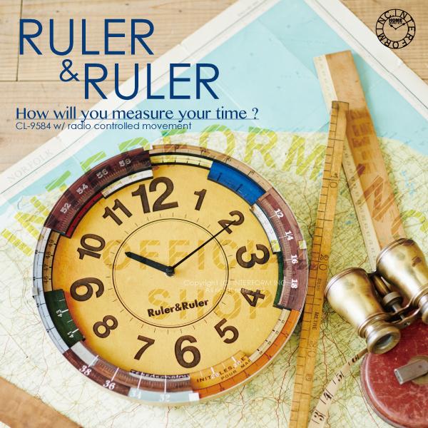 【高知インター店】 RULER&RULER [】 ルーラールーラー ]■ [ 電波時計 | 壁掛け時計【 壁掛け時計 インターフォルム】, ディアディア:ea7c0a6f --- canoncity.azurewebsites.net