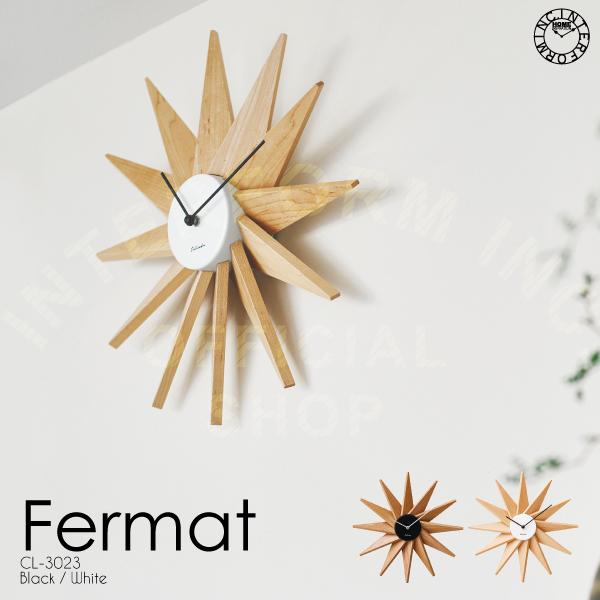 【インターフォルム公式】 【送料無料】 Fermat フェルマー 掛け時計 | 時計 おしゃれ お洒落 かわいい インテリア スイープムーブメント 壁時計 壁掛け時計 北欧 モダン モノトーン ナチュラル リビング ダイニング 寝室 書斎 一人暮らし デザイン ギフト カフェ 木