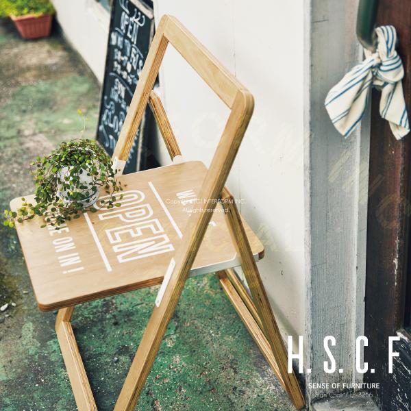 Sign Chair [ サインチェア ] 折りたたみチェア ■ チェア | 椅子 | サインボード 【 インターフォルム 】