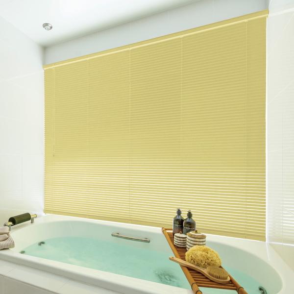 ブラインド ニチベイ 25mmスラット 高遮蔽 セレーノグランツ25(酸化チタン・フッ素コート) 浴室テンションタイプ 幅101~120cmX高さ141~160cmまで