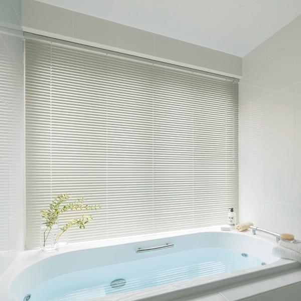 ブラインド ニチベイ 25mmスラット 耐水 セレーノオアシス25(ウッドフェイス) 浴室テンションタイプ 幅81~100cmX高さ10~100cmまで