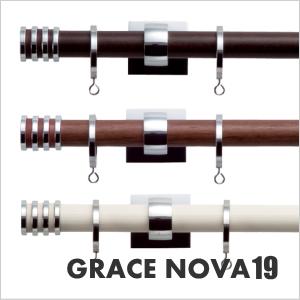 カーテンレール シングル TOSO グレイスノーヴァ19 3.1m シングルCセット