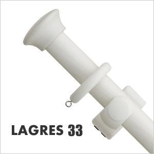 カーテンレール シングル TOSO ラグレス33 2.1m シングルHセット(アンティークホワイト)