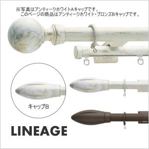 カーテンレール ダブル TOSO リネージュ 2.1m ダブルBセット(アンティークホワイト)