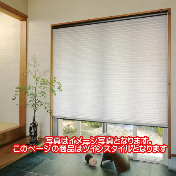プリーツスクリーン もなみ 25mm ニチベイ ながめ雪 M8101 ツインスタイル(コード式) 幅80.5~120cm×高さ101~140cmまで