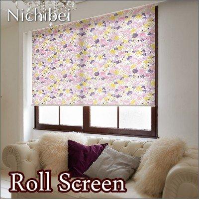 ロールスクリーン オーダー ニチベイ ソフィ 防炎 フローリア N7186 幅161~200cmX高さ161~200cm