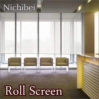 ロールスクリーン オーダー ニチベイ ソフィ 防炎 メッシュストライプ UVカット N7280~N7282 幅121~160cmX高さ251~300cm