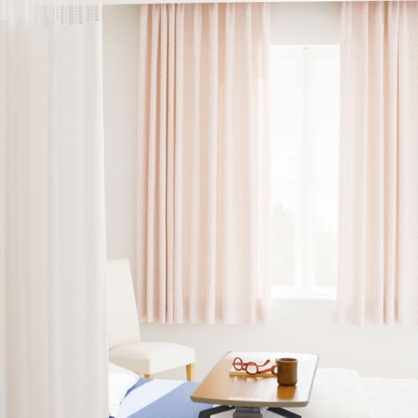 高い品質 カーテン 防炎 サンゲツ 病院用 メルボルン2 ヨコ使い 標準縫製仕様(アジャスタフック使用) 約1.5倍ヒダ使い PK9072~PK9074 巾267~333cmX丈81~100cmまで, ユニベティ e346a1cc
