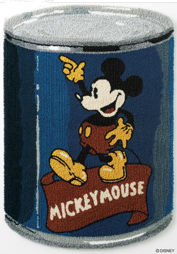 ディズニー ラグマット カーペット ミッキーマウス MICKEY Can RUG 日本製 最大約90cmX130cm(変形)