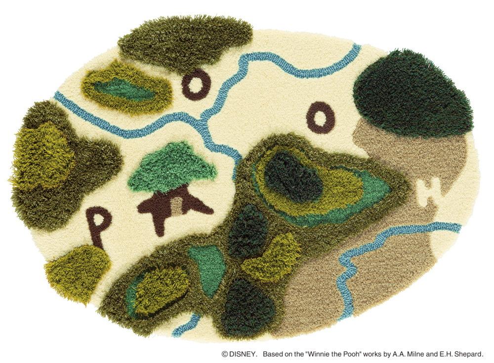 ディズニー ラグマット カーペット くまのプーさん POOH In the forest RUG 日本製 約90cmX130cm