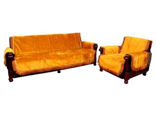 椅子を華やかにみせ 汚れも防止するリビングセットカバー リビングセットカバー 高級ボアゴールド 3人掛用 両肘付 代引き不可 日本製 イスカバー 買収 送料無料 椅子カバー LS18-3 こちらの商品は受注生産です