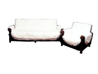 椅子を華やかにみせ 汚れも防止するリビングセットカバー リビングセットカバー 高級ボアホワイト 2人掛用 両肘付 LS38-2 代引き不可 休日 椅子カバー 日本製 イスカバー 送料無料 こちらの商品は受注生産です