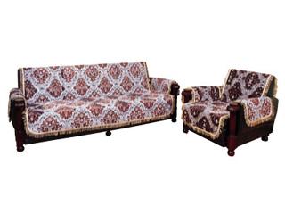 未使用 椅子を華やかにみせ 汚れも防止するリビングセットカバー 優先配送 リビングセットカバー 金華山 ゴールド グレー 3人掛用両肘付 こちらの商品は受注生産です カバーベルト付 LS15-3 LS17-3 送料無料 イスカバー