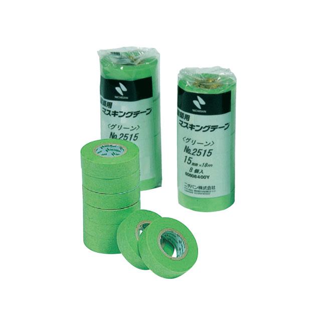 白より跡が残りにくい!! 業務用マスキングテープ 緑 18mm×18m 7巻1包 配送用品 梱包用 資材