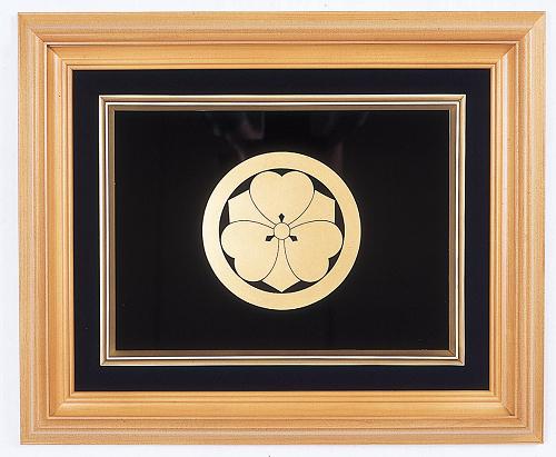 越前塗本金家紋額 (額寸法)42×51cm 送料無料 日本製 高級 京塗蒔絵