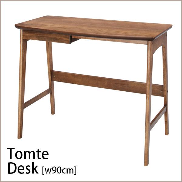 【 幅90 cm】 北欧 デザイン ウォールナット パソコンデスク 【 単品 】【 Tomte 】トムテ